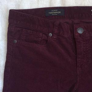 J. Crew toothpick corduroy pants